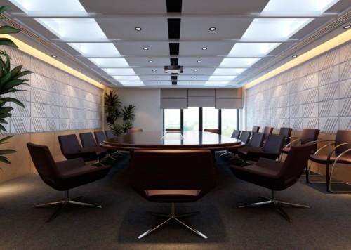 Вид наших 3D-панелей в конференц-залах