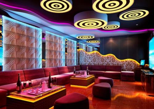 Вид наших 3D-панелей в ночных клубах